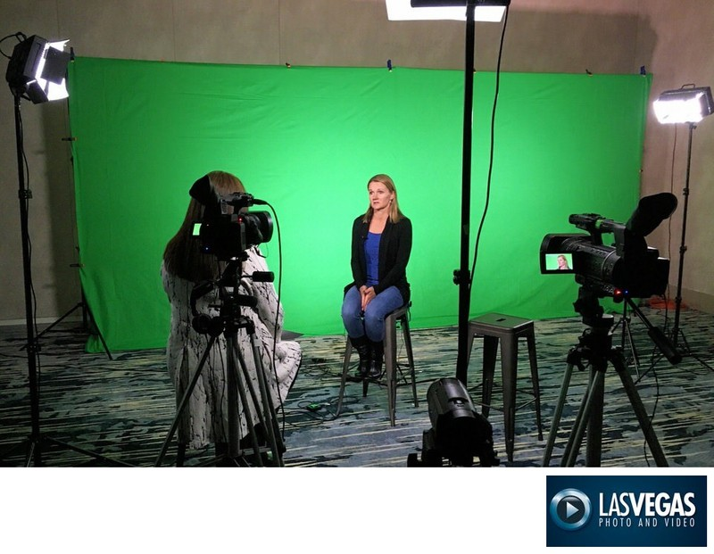 corporate event videographer green screen interview