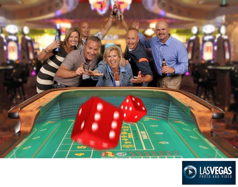 Corporate Photography  Green Screen Craps Table Photo