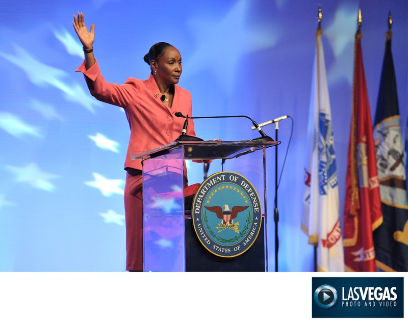 Conference photographer - DoD Featured Speaker onstage