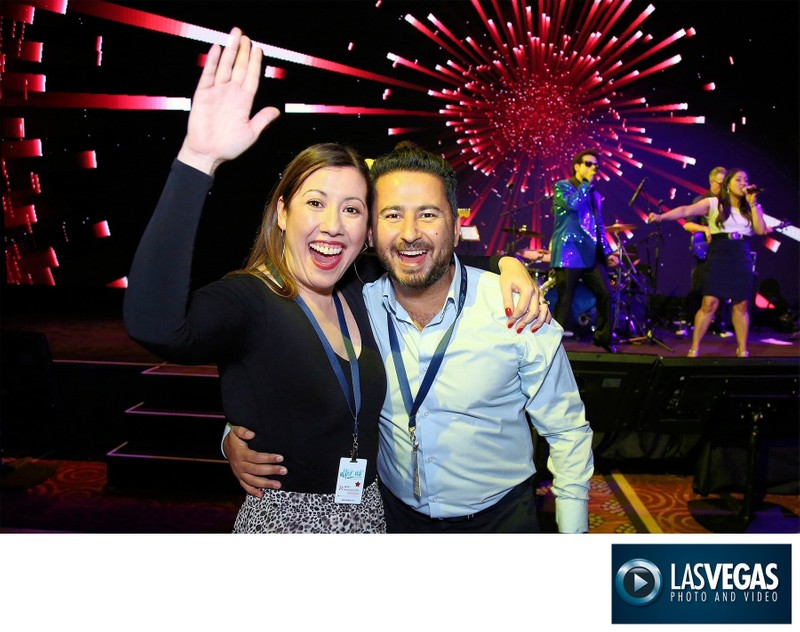 Corporate Photography of a fun couple at a corp event