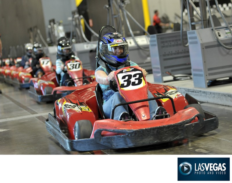 Corporate photography of Go-Kart Team Building event