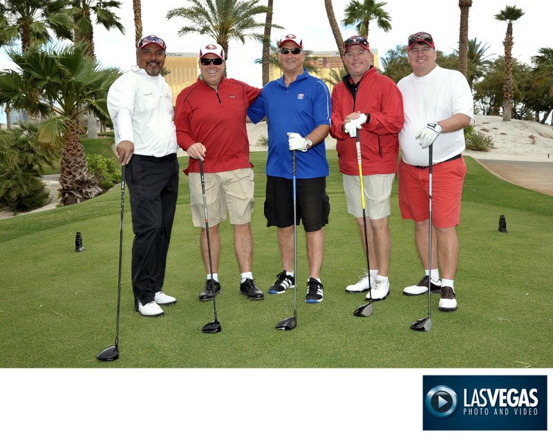 Corporate photo at a golf tournament by Mandalay Bay