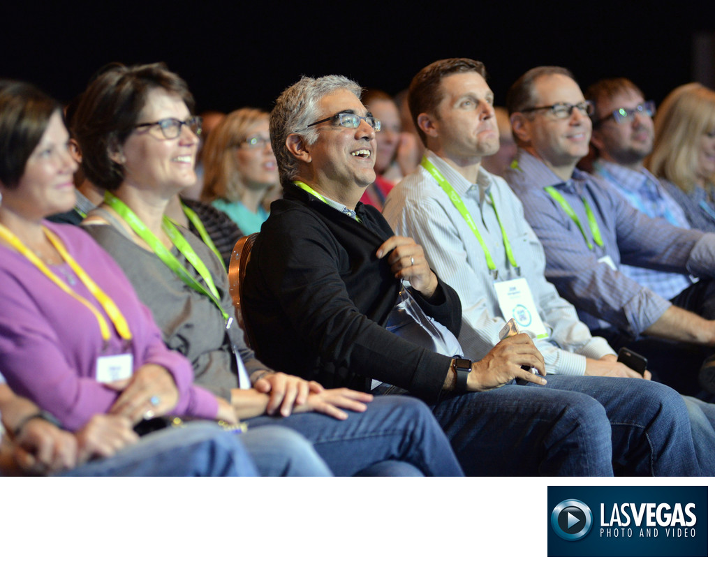 Las Vegas conference photography captivated audience