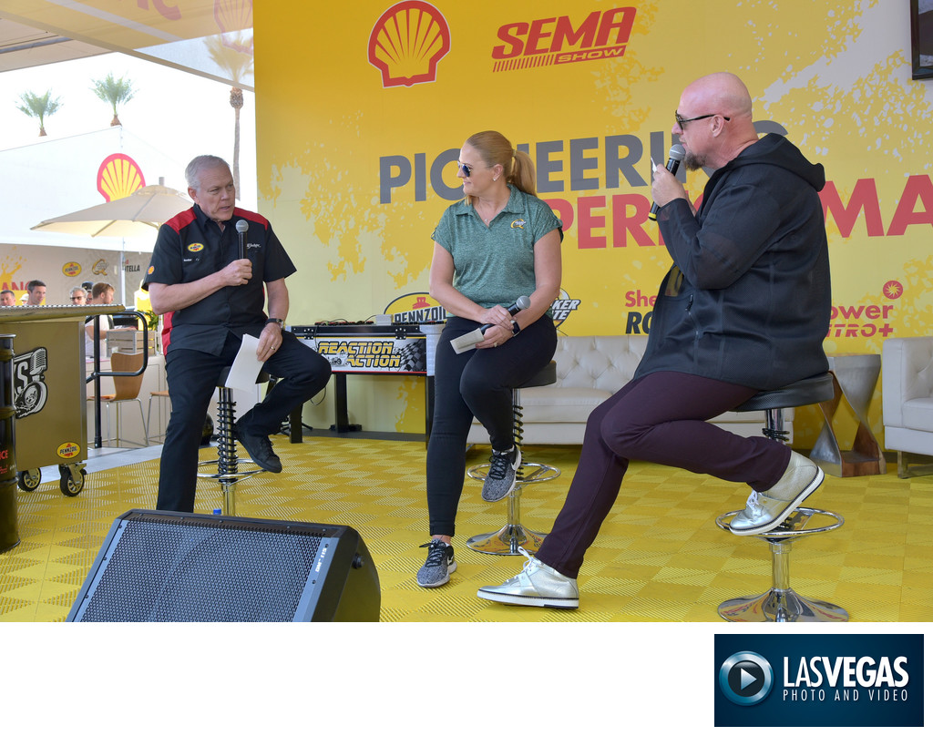 corporate photographer shell at sema las vegas