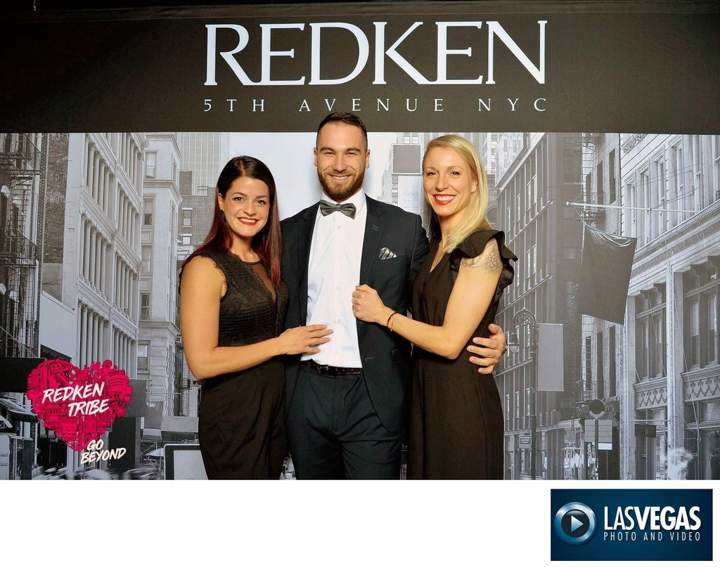 corporate photographer step & repeat red carpet for Redken