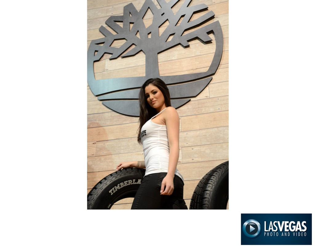 trade show booth photographer Timberland Tires Model