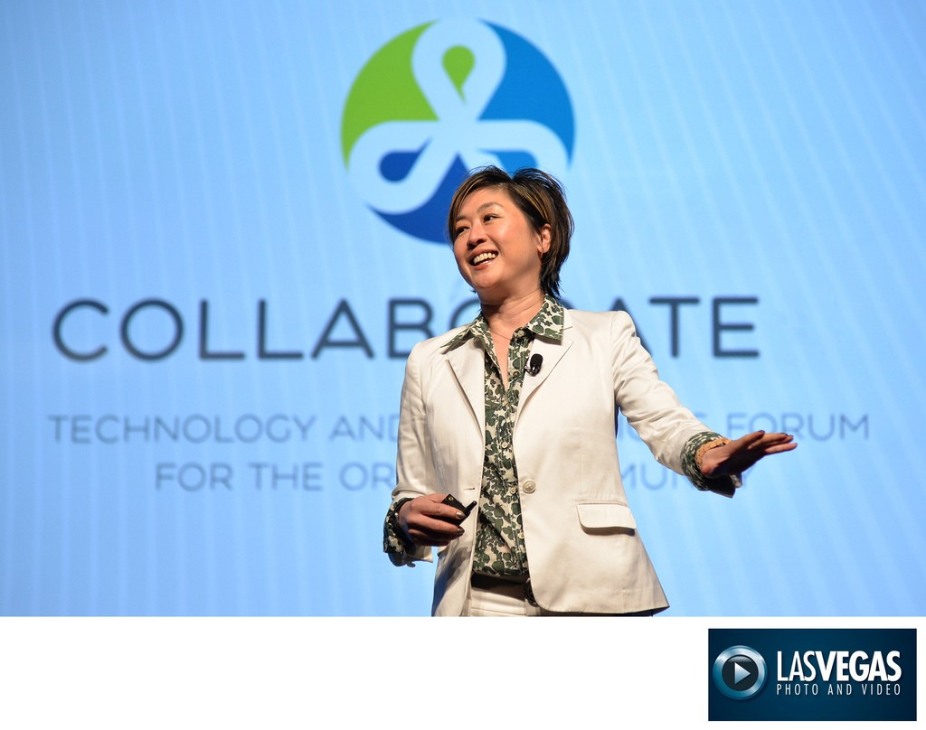 Corporate Photography of tech company keynote speech