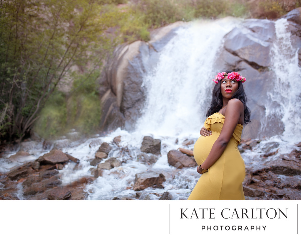 Colorado Springs Maternity Photographer Helen Hunt Falls