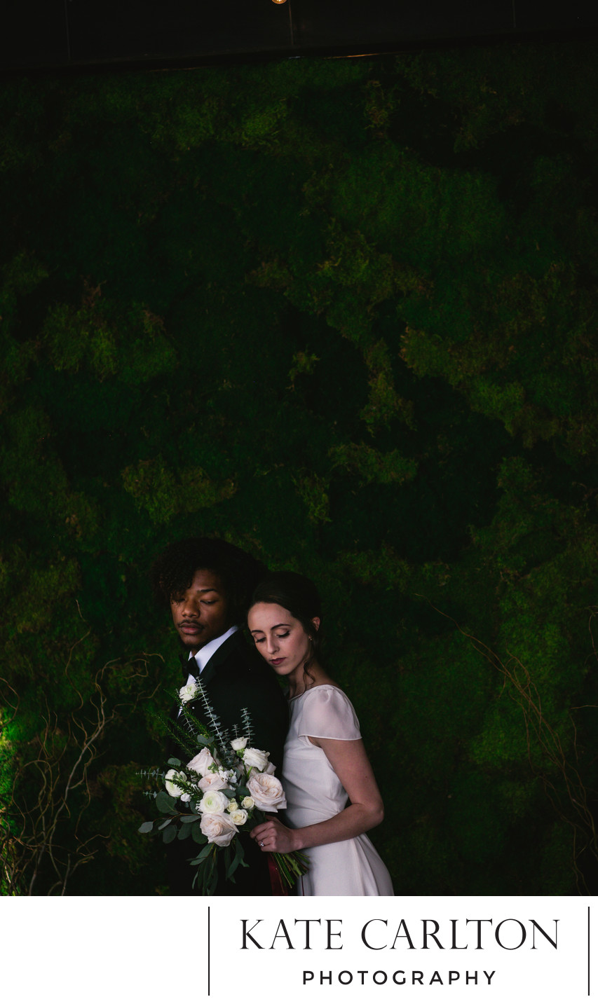 Romantic Moss Wall Wedding