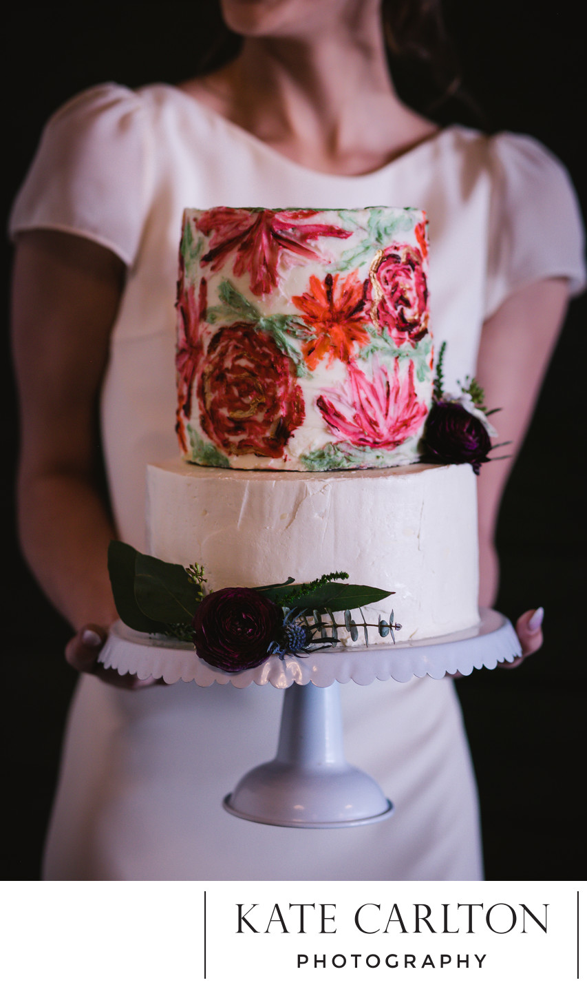 Artistic Wedding Cake Portrait