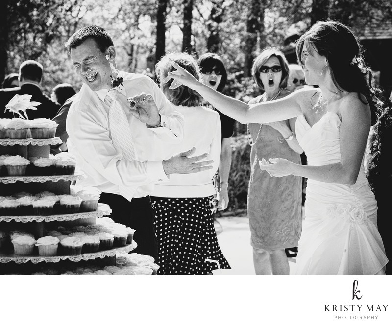 Bride Tosses Cake at Groom's Face, Guests React