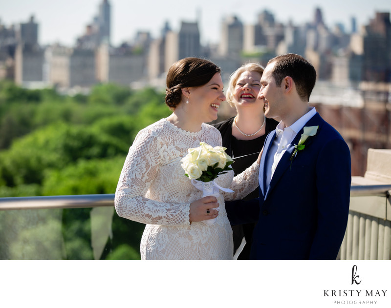 Rooftop Wedding Ceremony Near Central Park