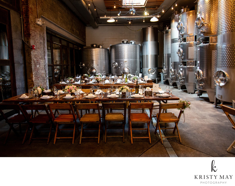 Brooklyn Winery Dinner Set-up