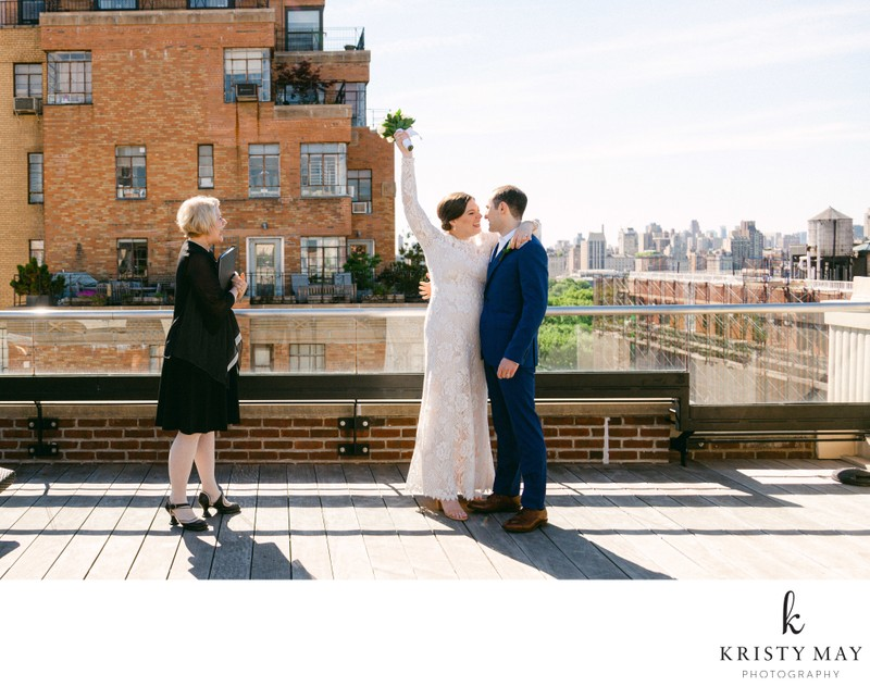 Socially Distant Rooftop Wedding