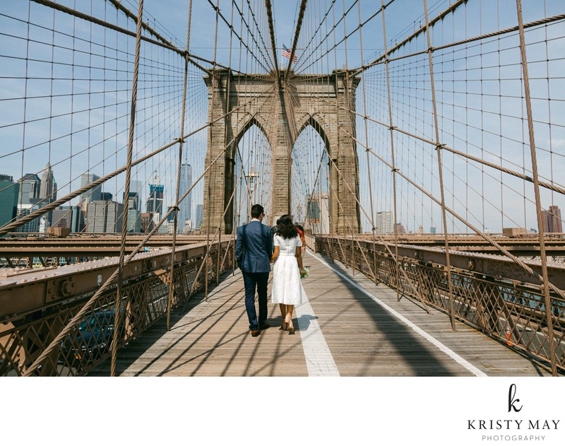 Brooklyn Bridge Wedding Walk
