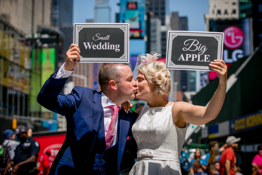 Small Wedding in the Big Apple Elopement