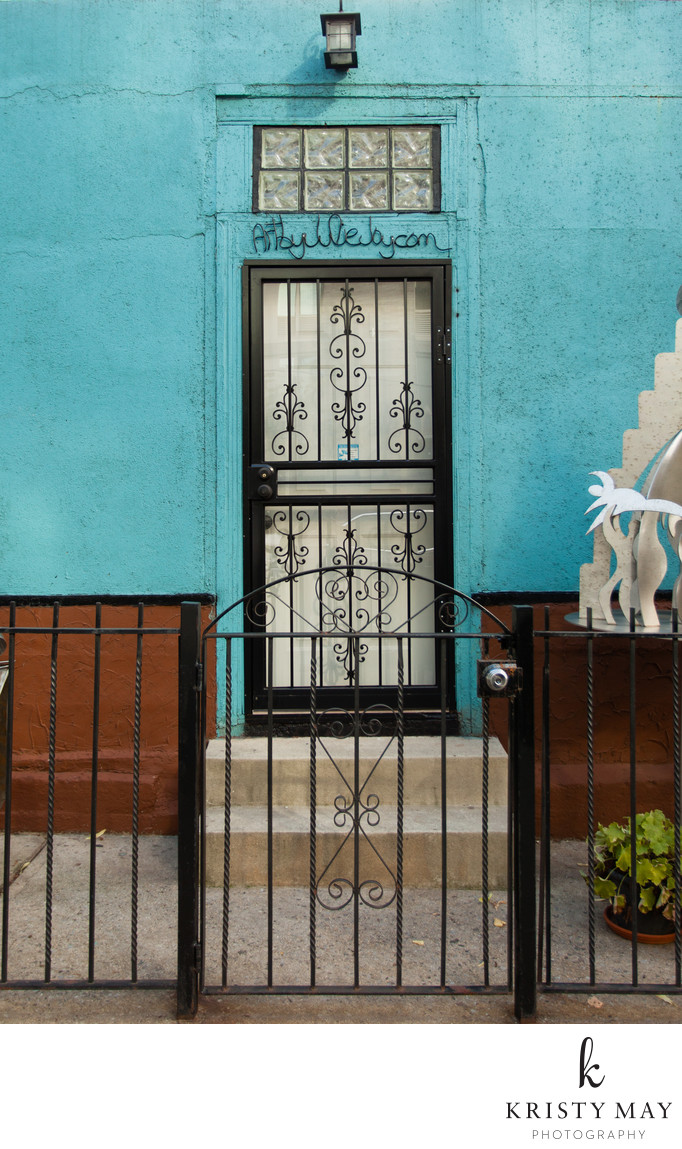 Renovated door at 62 N 8th Street in Brooklyn