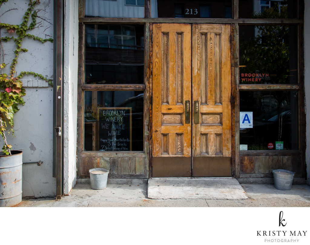 Entrance to Brooklyn Winery, Williamsburg, Brooklyn
