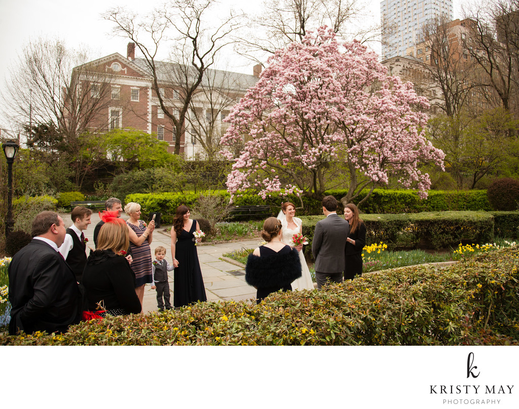 Spring Wedding at The Conservatory Garden