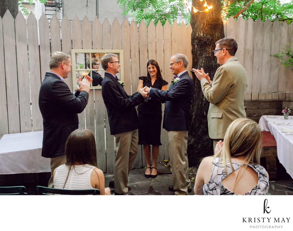 Gay Wedding in Backyard