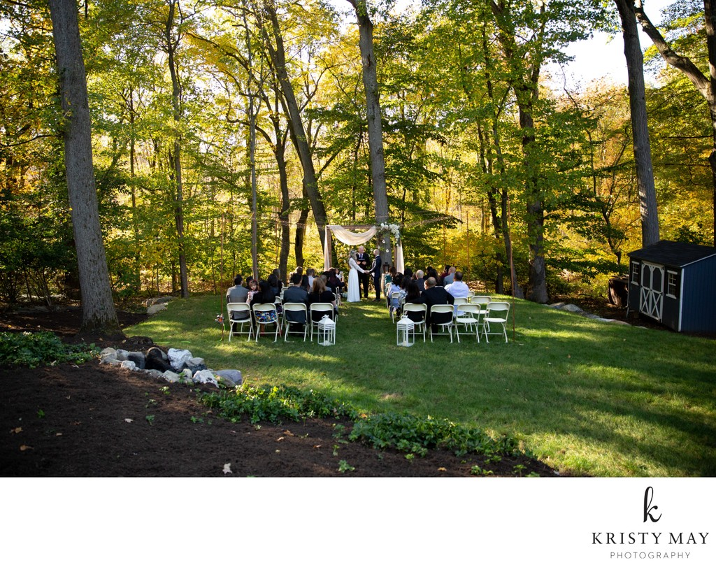 A backyard wedding in Stamford, CT