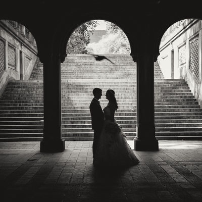 NYC Elopement Bethesda Terrace Arches