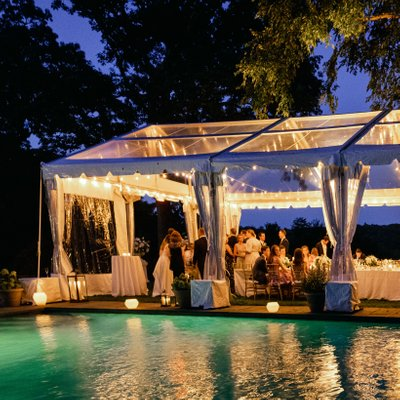 Tented Backyard Wedding Private Home