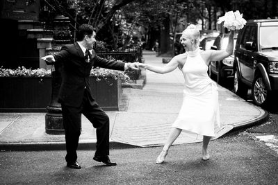 Wedding Couple Dance on West Village Street