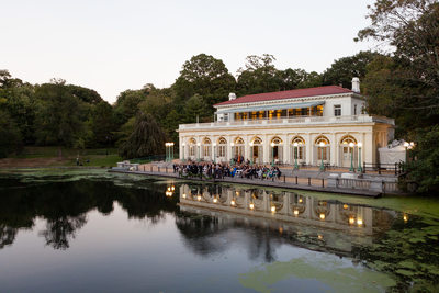 Prospect Park Boathouse during a Wedding Ceremony