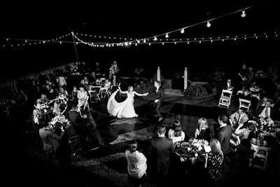 Dancing under the stars at a wedding, Center Island, NY