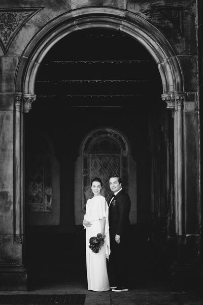 Black tie Wedding Portrait Bethesda Terrace Arch