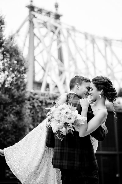 Romantic Wedding Portrait at The Foundry in Long Island City, NY