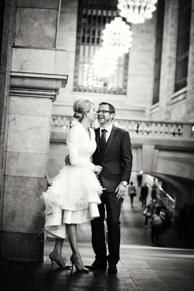 Grand Central Terminal Wedding Portrait