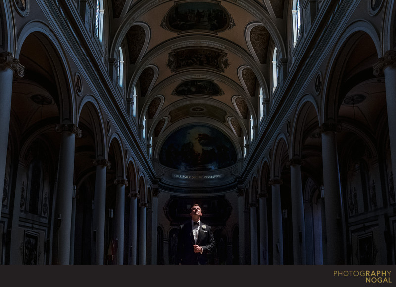 Groom at St. Paul's Basilica in Toronto