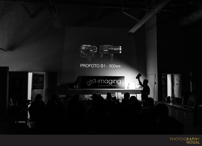 Discussing Profoto B1 at Raph's GTA Imaging Workshop