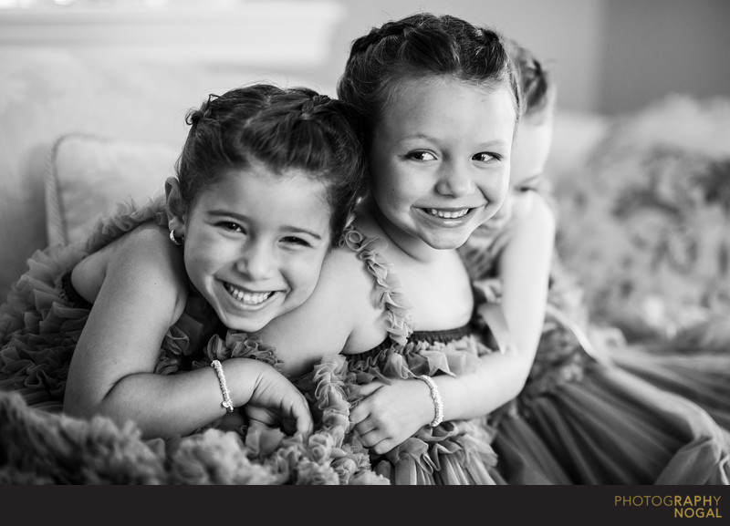 Adorable Flower Girls Laughing