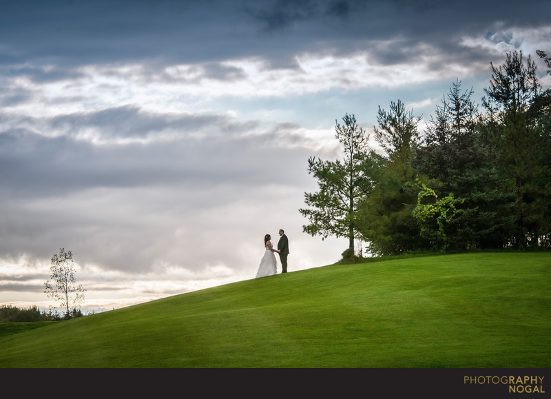 Bride and Groom at Nobleton Lakes Golf Club