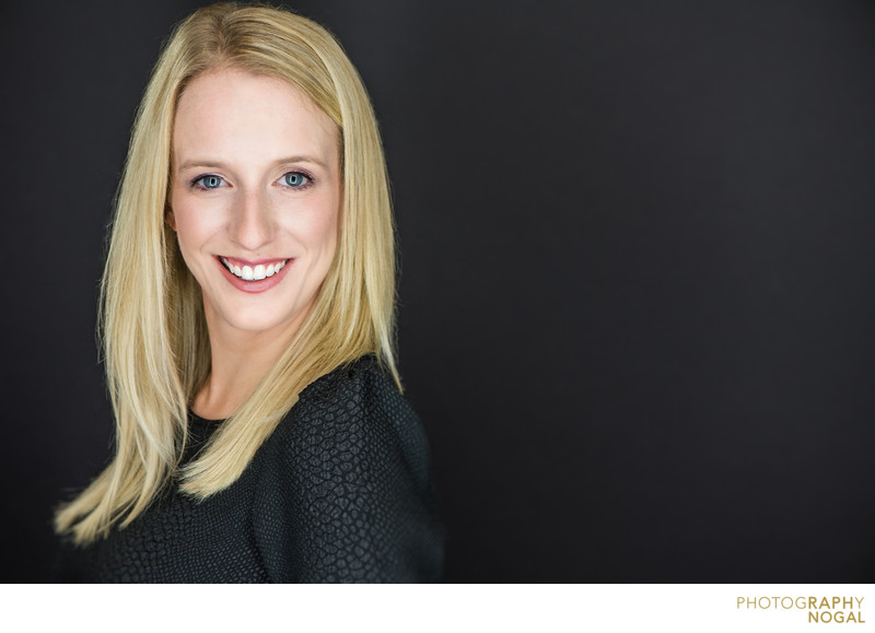 young professional business headshot blonde