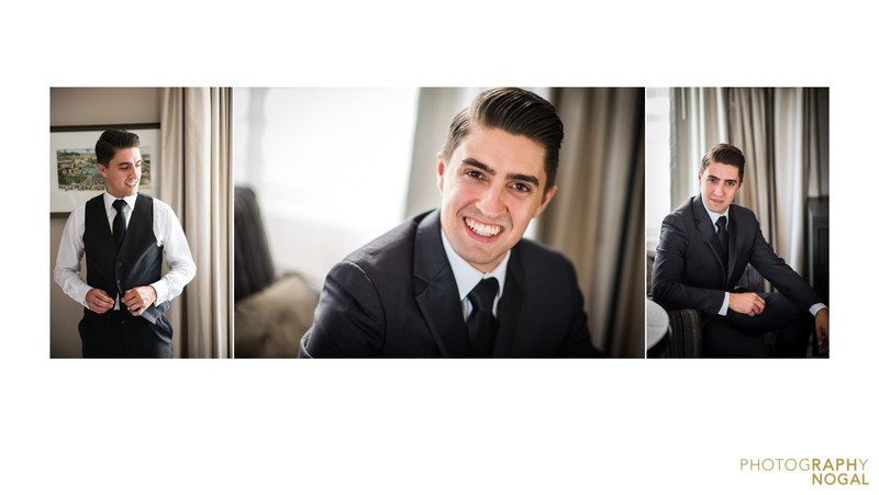Photos of the groom at One King West Hotel & Residency