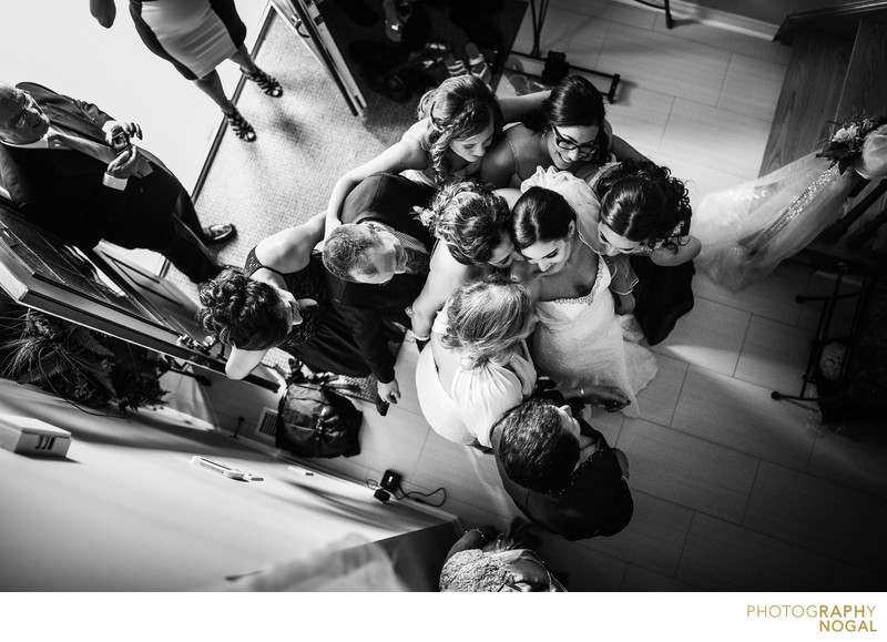 Bride Group Hug After Reveal