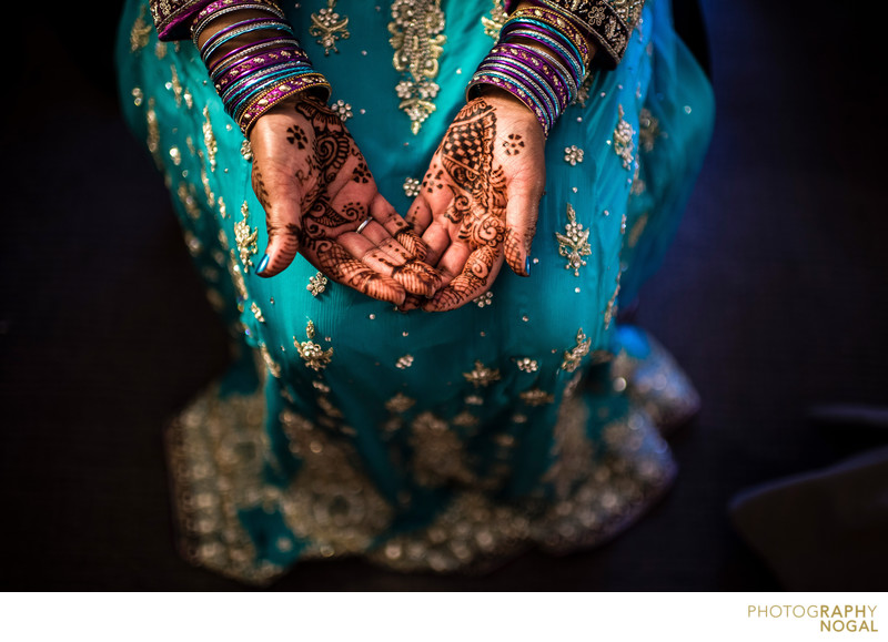 Bride Showing Off Mehndi Henna Tattoo