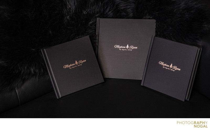 Bride and Groom Albums with smaller parent albums