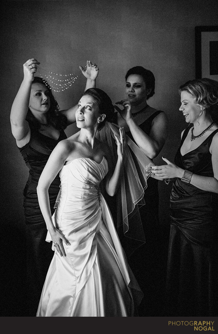 Dressing The Bride by the Bridesmaids