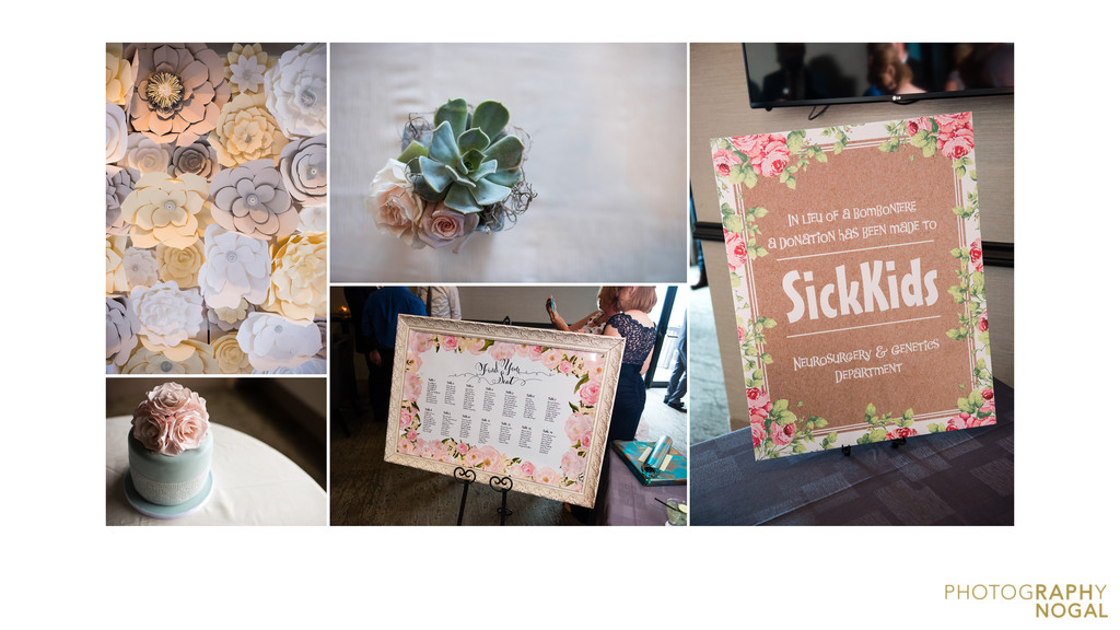 Wedding album details floral,  succulent themed wedding