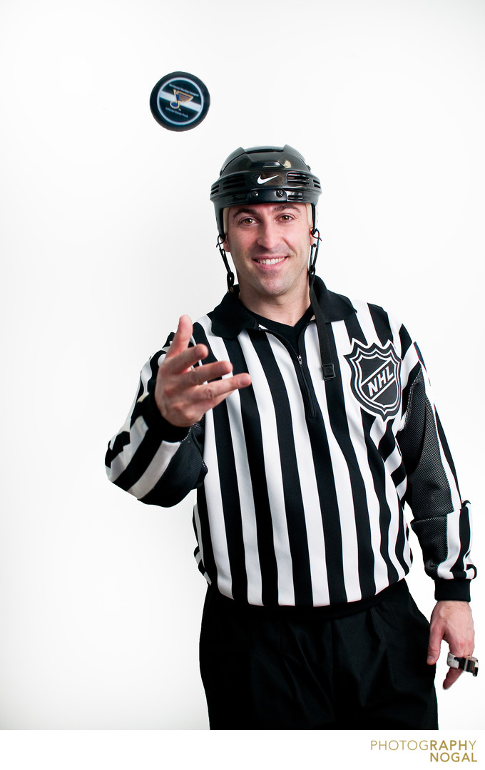 NHL referee portrait Angelo D'Amico