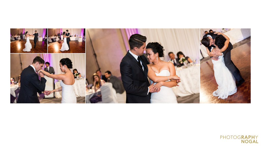 Couple celebrating first dance at One King West
