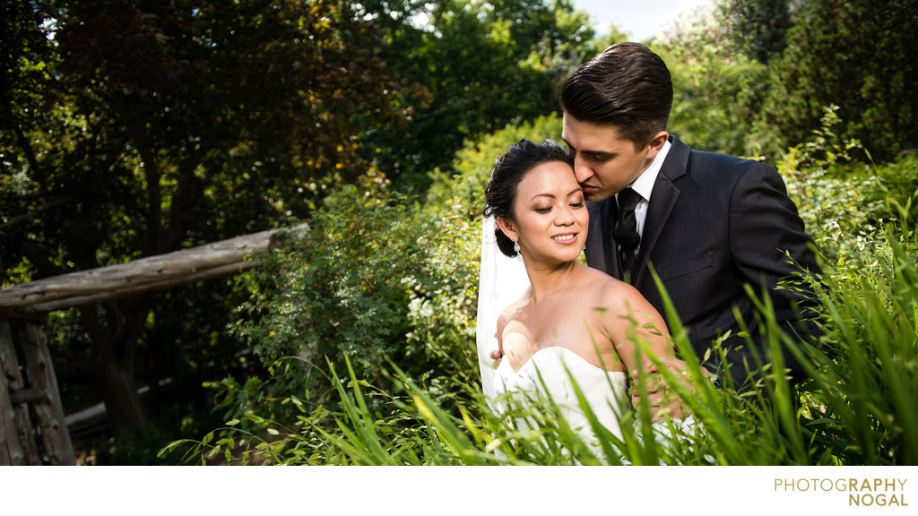 Alexander Muir Memorial Gardens wedding portrait