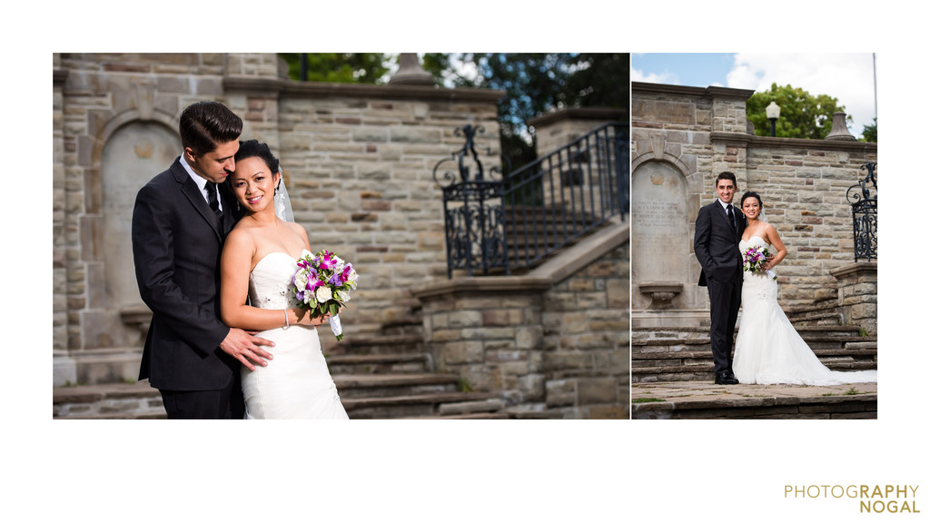 Alexander Muir Memorial Gardens wedding couples photo
