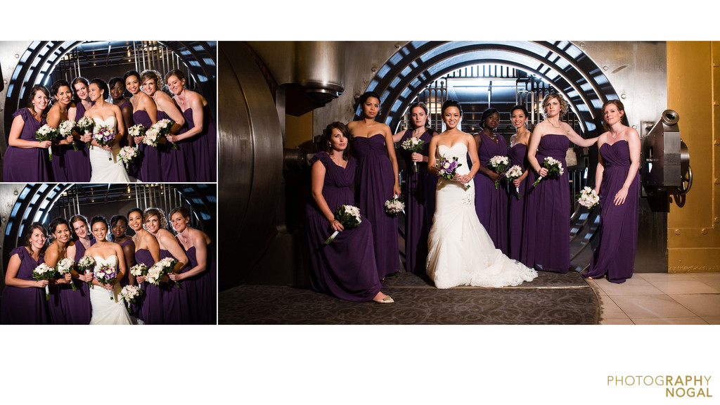One King West Hotel bride and bridesmaids album spread
