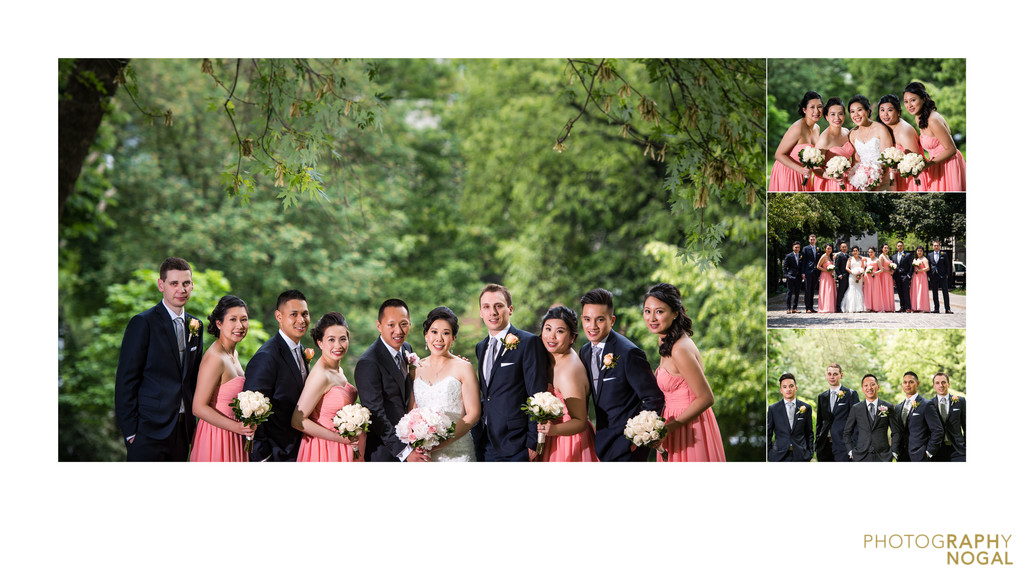 Osgood Hall formal bridal party wedding photos
